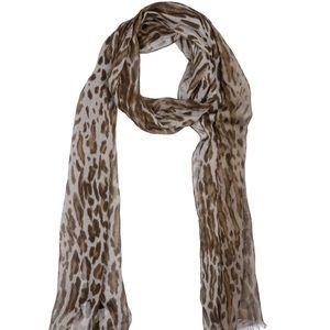 John Varvatos Collection leopard scarf
